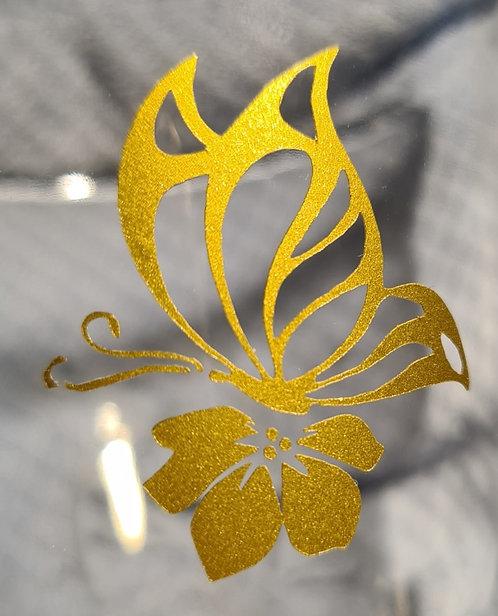 Vlinder op Bloom Sticker