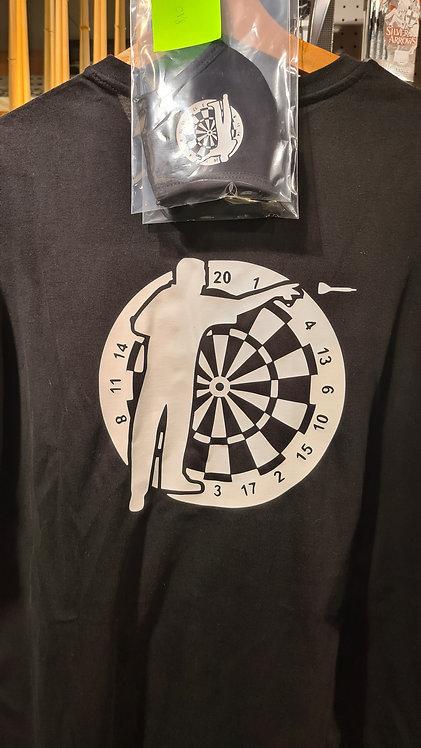 Set T-shirt en maskertje Darts