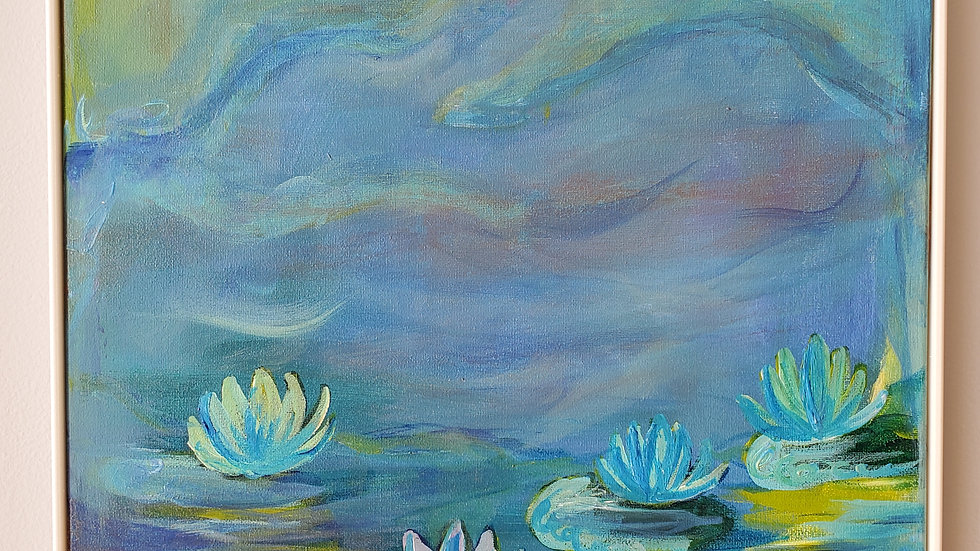 LIlies in Blue and Green
