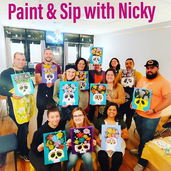 Not your average paint and sip😍🎨 Keep