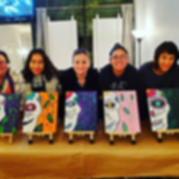 1st Paint & Sip with Nicky! Day of the D