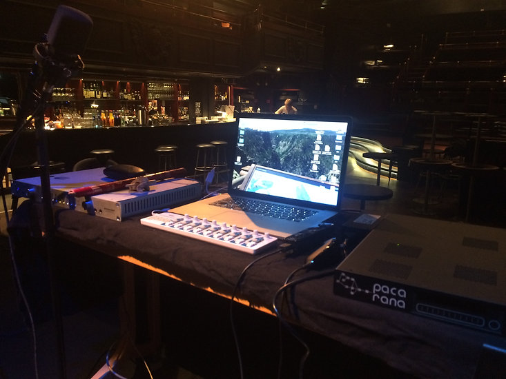Michael Wittgraf setting up in Oslo, Norway