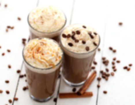 Ice coffee with whipped cream and coffee