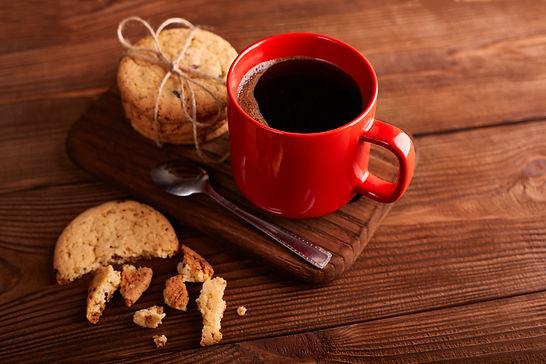 Coffee And Homemade Cookies With Chocola