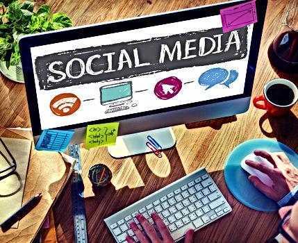 Social Media Connection Communication Te