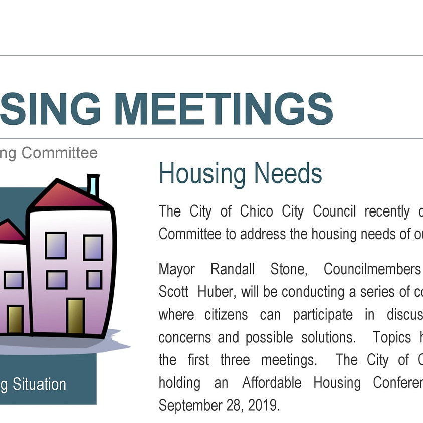 Ad Hoc Housing Committee Meeting - Non-profit and Affordable Housing Agencies - Subsidized Housing
