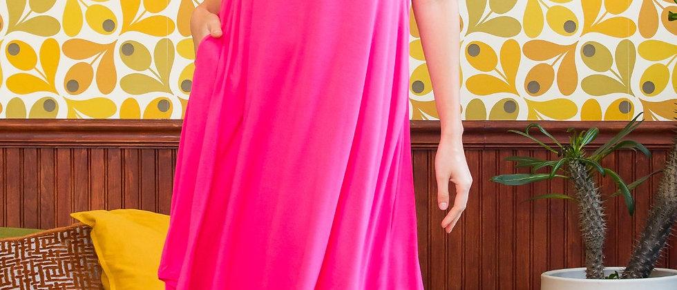 Sleeveless Swing Pocket Dress