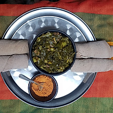 COLLARD GREEN WITH MEAT  ጎመን በስጋ
