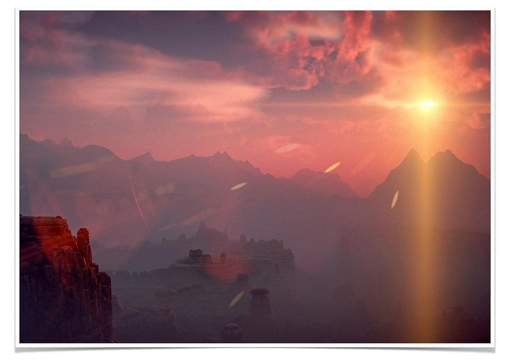 Adonis Archontides Postcards from Quarantine Sun Furrows Horizon Zero Dawn