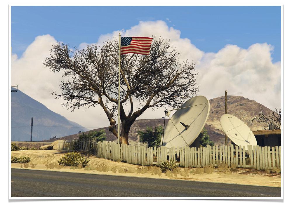 Adonis Archontides Postcards from Quarantine Grand Senora Desert USA Blaine County San Andreas Grand Theft Auto V GTAV