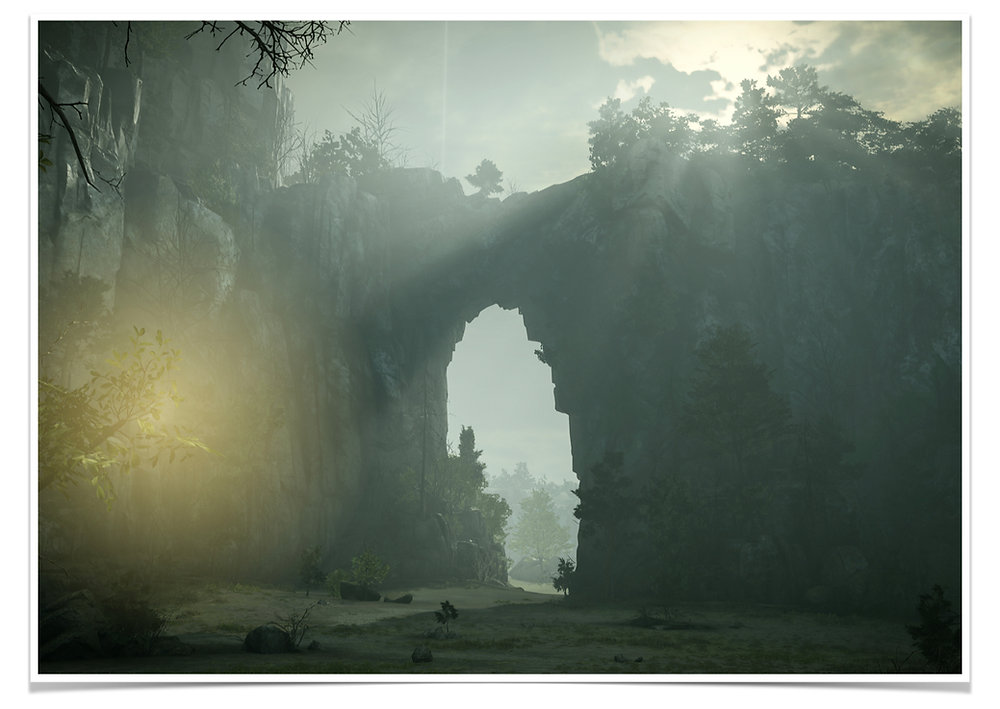 Adonis Archontides Postcards from Quarantine Stone Arch Gorge Shadow of the Colossus