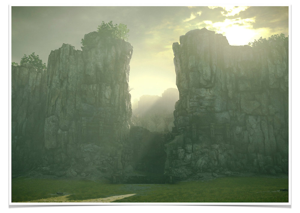 Adonis Archontides Postcards from Quarantine Cliff Path Shadow of the Colossus