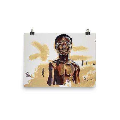 """Black is Brown is Gold"" Original Art Print/ Impresión de Arte Original"