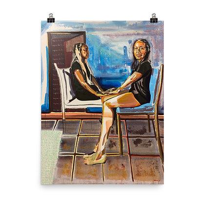 """Las Primas Negras"" Original Art Print/ Impresión de Arte Original"