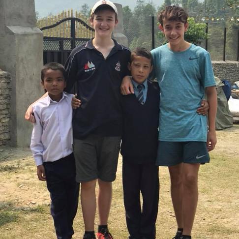 Canberra Grammar School kids helping Nepal School kids around Kaski District, Nepal