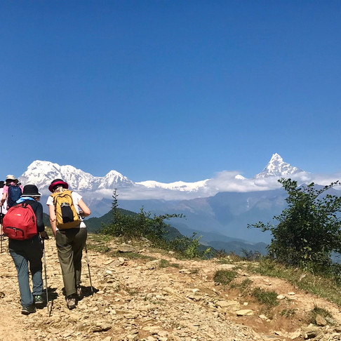 Trekking with Annapurna Ranges in Nepal