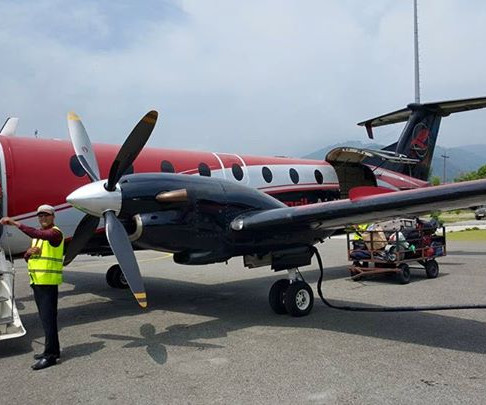 A domestic airline in Nepal, Simrik Air