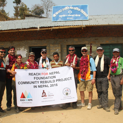 Nepal Adventures & REACH for Nepal first Community Rebuild Trip Feb 2016
