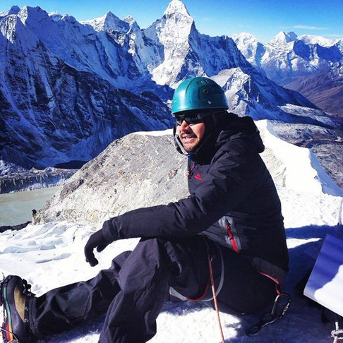 Lachhu Thapa, Nepal Adventures Director on top of Island Peak, 6189m