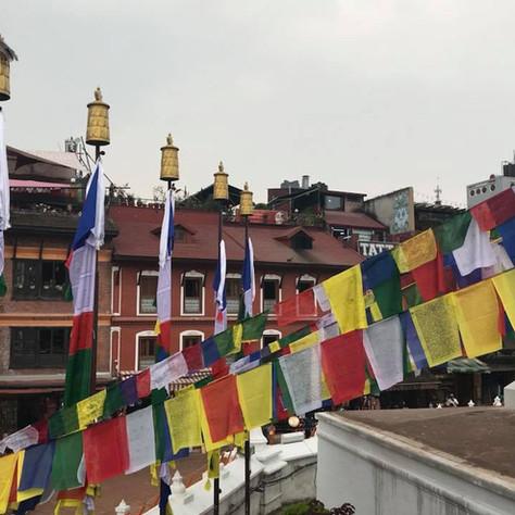 Prayer flags around Kathmandu