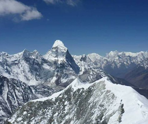 Amadablam as seen from the top of Island Peak