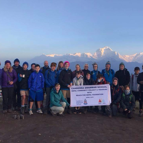 Canberra Grammar School with Nepal Adventures at Poon Hill, The famous Annapurna Ghorepani Trek