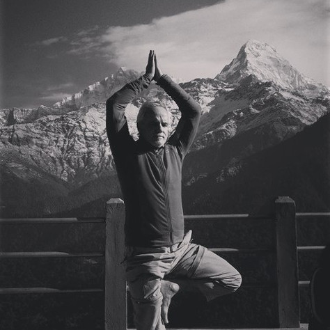 Lou Nulley, Yoga in the Mountains with REACH for Nepal Foundation Community Rebuild Trip