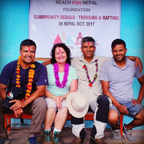 The Nepal Adventures Team with Julia Brownlee from Canberra - Oct 2017