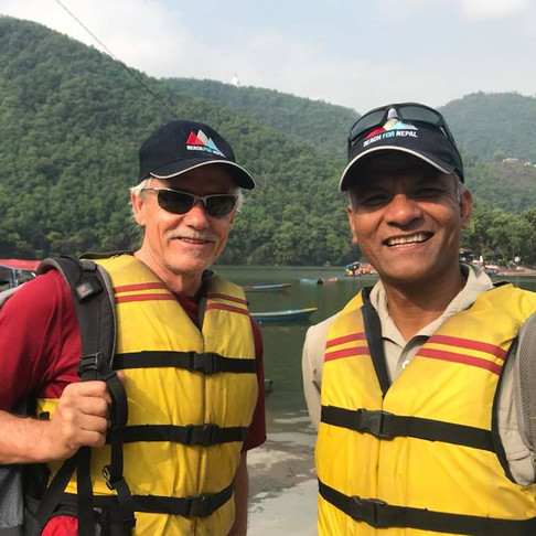 Lou Nulley, REACH for Nepal Director & Raju Thapa, Nepal Adventures Trek Lead
