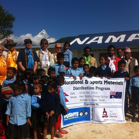 Pushys Team - The first ever Nepal Adventures trip