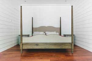 Custom Bed Frame with Cushion