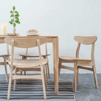 White Oak Dining Set