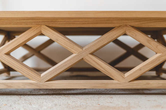 Criss Cross Coffee Table Detailed