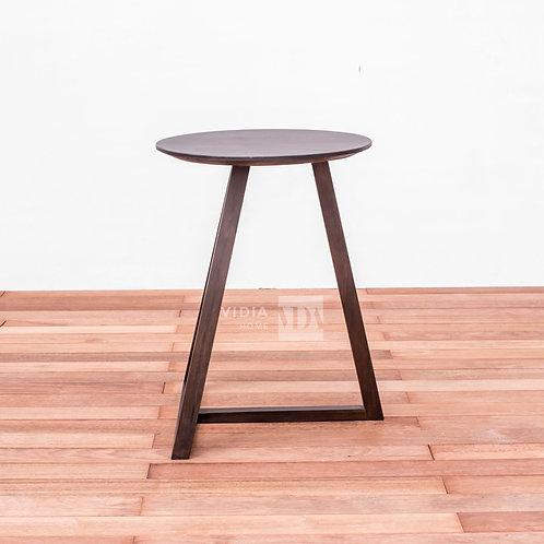 Leaning T Side Table in Walnut