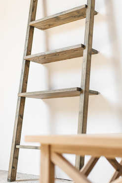 Sungkai Wood Display Ladder
