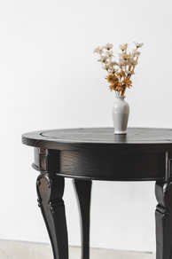 Sungkai in Black Side Table Detailing