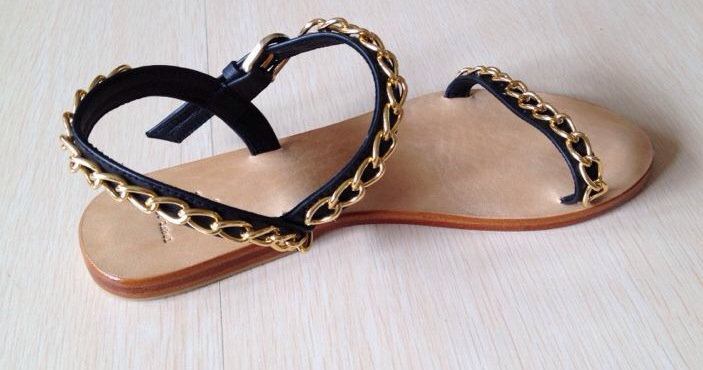CHAINED SANDALS