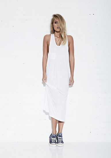 THE RACER LONG DRESS
