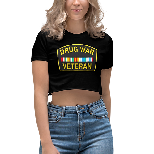 Drug War Veteran Women's Crop Top