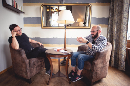 Nicolas Burri rencontre Yann Lambiel