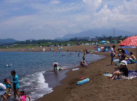 観光地引網中止のお知らせと柿崎中央海水浴場について