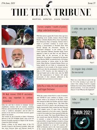 ISSUE 37   27th June, 2021