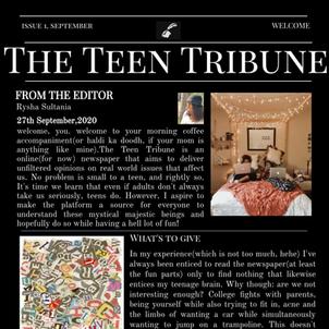 ISSUE 1   27th September 2020