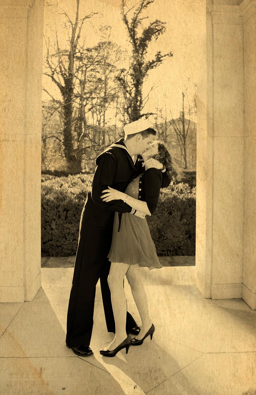 V-Day Kiss engagement