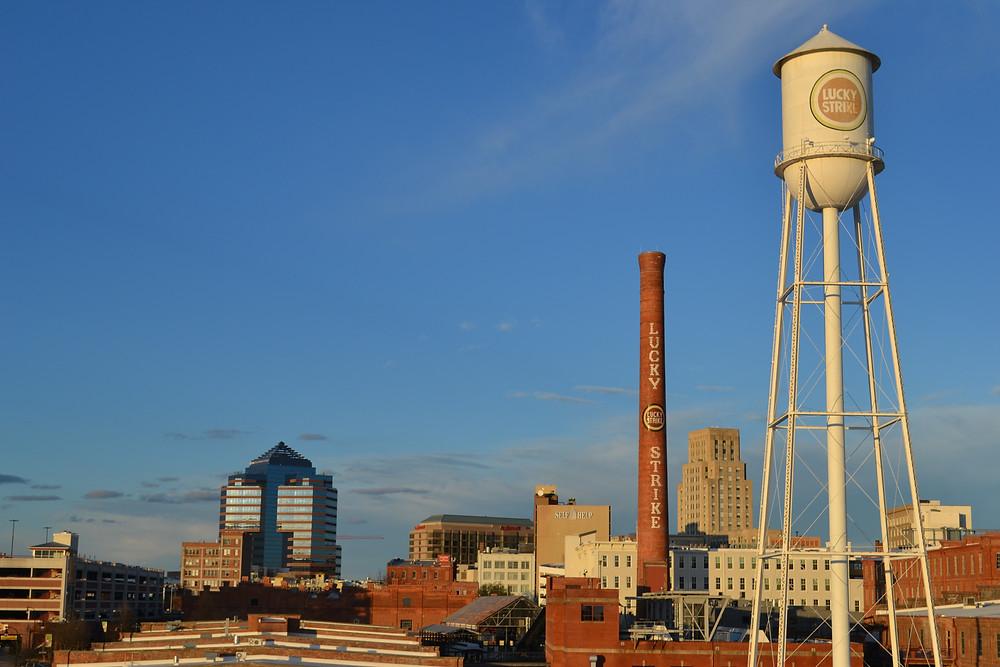 Durham North Carolina skyline