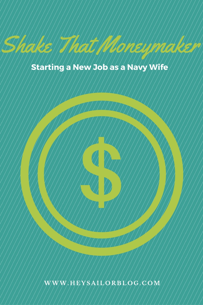 New job as navy wife graphic