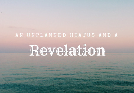 An Unplanned Hiatus and a Revelation