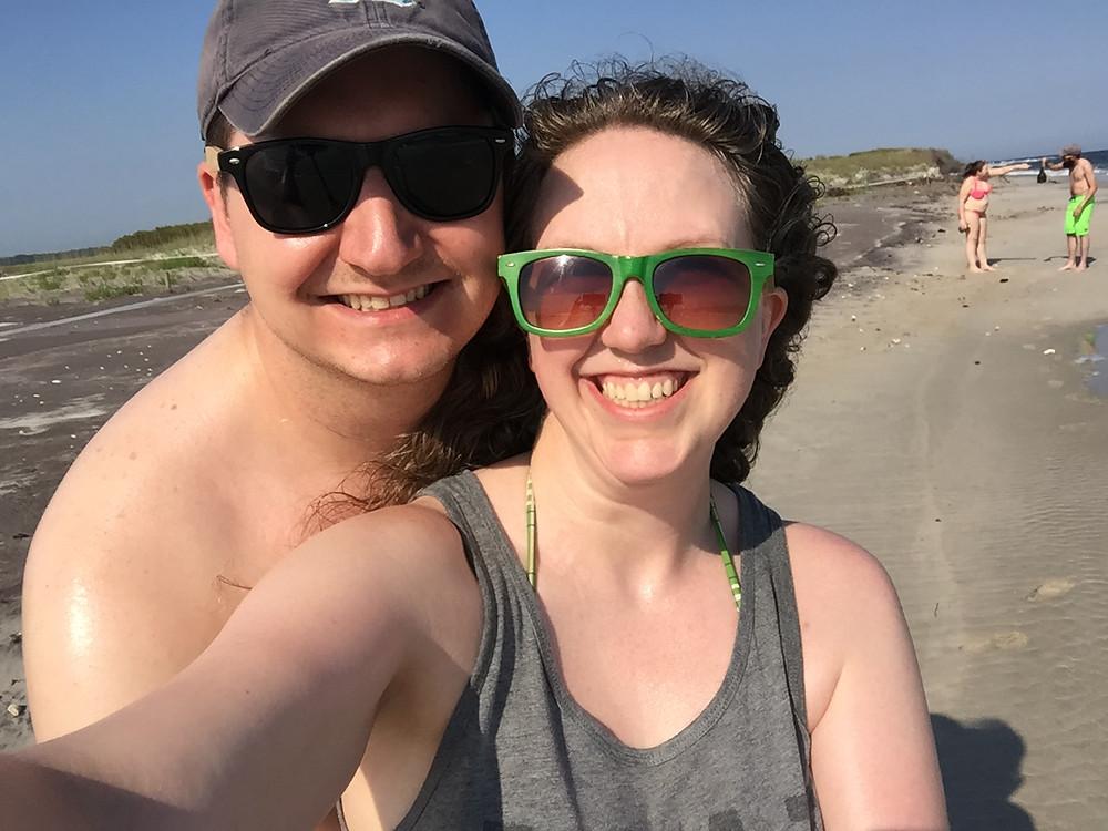 married couple navy wife selfie