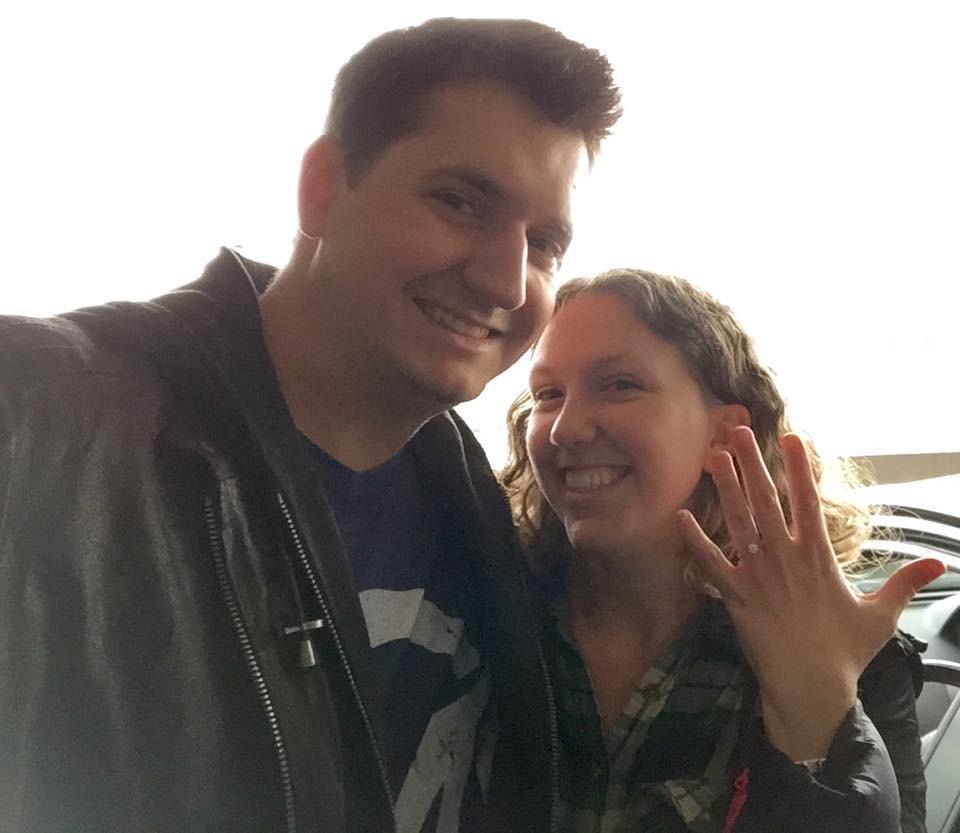 engagement selfie