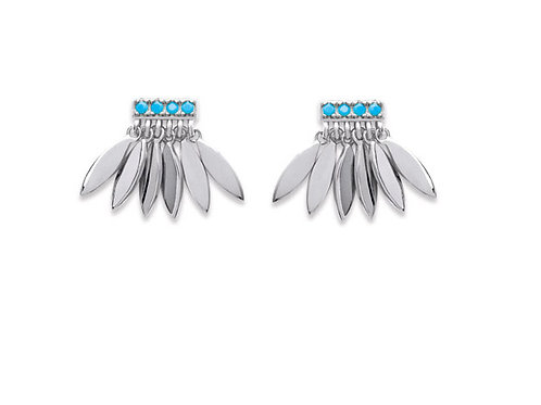 Boucles d'oreilles Robby turquoise